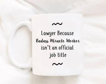 Lawyer Mug Funny Lawyer Mug Attorney Mug Funny Mug For Lawyer Miracle Worker Mug Gift For Lawyer Thank You Gift