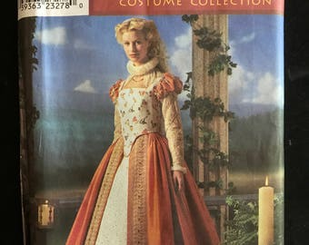 Simplicity 8881 - Elizabethan Womans Royalty Costume by Martha McCain Designs - Size 6 8 10 12