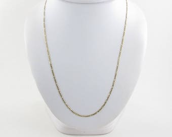 "14k Yellow Gold Figaro Link Chain Necklace 20"" 3.8 grams"