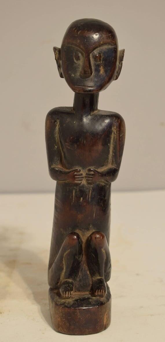 Indonesian Vintage Wood Statue Timor Ancestor Spirit World Timor Statue