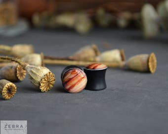 Pair plugs Jupiter image wooden ear tunnels 4,5,6,8,10,11,12,14,16,18,20,22,25-60mm;6,4,2g,0g,00g;1/4,5/16,3/8,1/2,9/16,5/8,3/4,7/8,1 1/4""