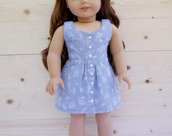 18 inch doll clothes AG doll clothes Trendy Sundress with Pockets made to fit like American Girl doll clothes