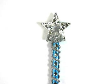 Blue Silver Star Fairy Godmother Wand Gold Star Magic Wand Wizard Wand Fairy Wand Witches Wand Steampunk Wand Cosplay Party Wand