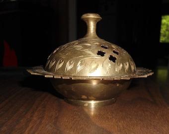 Vintage Brass Incense Burner Brass Scent Cones Burner