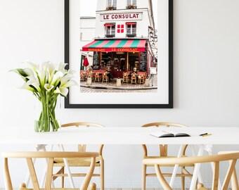 Photographie Fine Art d'un Café Parisien - Toile Photo de Paris