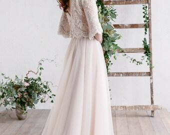 Two piece wedding dress etsy bohemian wedding dress two piece wedding dress dress bridal separates champagne ivory junglespirit Choice Image