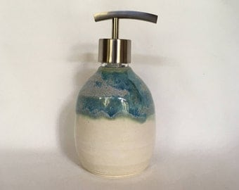 Handmade Pottery Soap Dispenser ,Ceramic soap or lotion pump