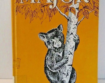 Vintage Childrens book Major  the story of a Black Bear, Robert McClung, 1956, wild life story, science and nature