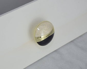 Gold, Polished Brass Drawer Knobs, Black Drawer Pull, Cabinet Pull, Cabinet Knobs