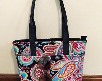 Deluxe Concealed Carry Tote Purse Floral Paisley