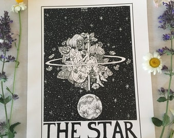 Tarot Card Print • 'The Star' • By Madison Ross