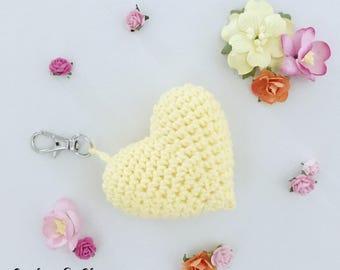 Heart Keychain ~ Amigurumi ~ Bag clip