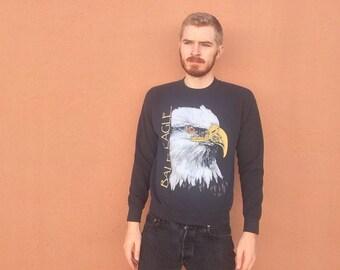 90s Bald Eagle 3D Sweatshirt size SMALL ~ 5103