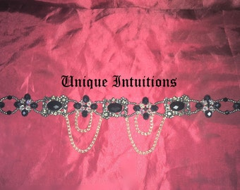 Gothic Wedding Choker, Handmade Medieval Style Wedding Choker Necklace, Victorian Necklace, Custom made Wedding Jewelry with free shipping