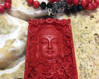 Buddha & Coral Necklace