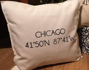 CHICAGO Coordinate 18x18 Pillow Case