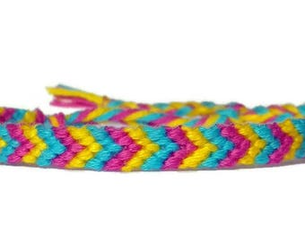 Pan Pride Chevron Friendship Bracelet - Small