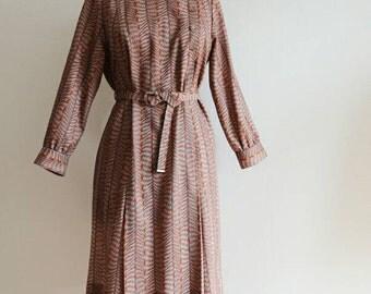 Vintage 70s dress s printed graphic Vintage Dress