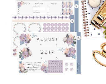 August Monthly Kit || for Erin Condren Life Planner || Planner Stickers
