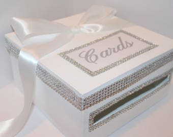 BLING WEDDING CARDBOX, Wedding money box, Gift Box, Sweet 16, Birthday Party, Bridal, Head table Decor, Wishing Well Card Box, Card holder