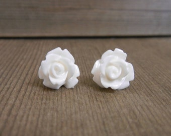 Rose Earrings. Handmade, ONE pair. LIMITED Time only!