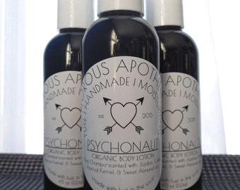 NEW! Psychonaut Body Lotion | Organic Handmade 4.5 oz Nag Champa-Scented Unisex Moisturizer w/ Jojoba/Castor/Apricot Kernel/Sweet Almond Oil
