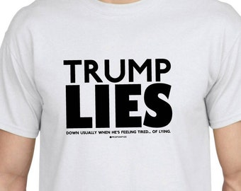 TRUMP LIES - White