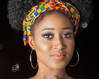 Kente Head Wrap, Ankara Head Wrap, African Print Headwrap, Ethnic Head Wrap For Women, African Gift For Her, Black History Month Dress Scarf