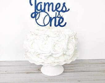 Personalized First Birthday Cake Topper / Baseball 1st Birthday / Sports Theme Birthday / One Cake Topper / Smash Cake / Custom Name Topper