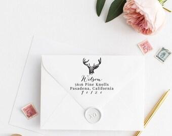 Custom Return Address Stamp, Self Ink Return Address Stamp, Personalized Address Stamp, Calligraphy Address Stamp Return Address Stamp No12