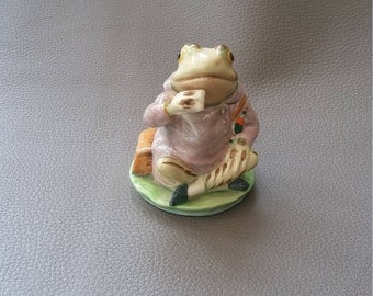 "Beswick Figurine, Jeremy Fisher, Beatrix Potter novel, ""The Tale of Mr. Jeremy Fisher"""