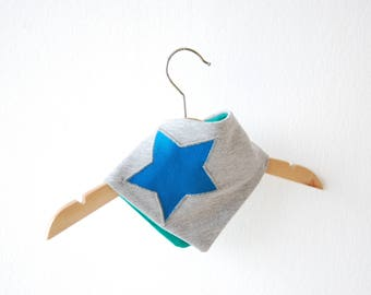 Scarf - blue-gray star