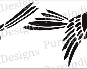Bird Svg,Stencil, Design Cutout, Vector art, Cricut, Silhouette Cameo, instant download, Digital Cut, Print Files, Svg, DXF, EPS, Wall Decal