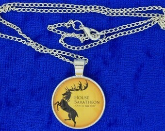 House Baratheon Necklace or Keychain Game of Thrones TV Inspired