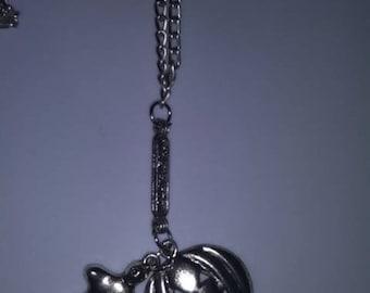 Pumpkin & Ghost Halloween Charm Necklace