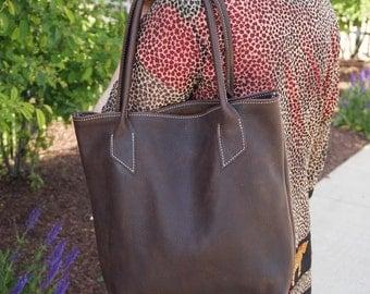 Leather Tote .Leather Handbag. Custom  Handbag.Leather Tote bag. Distressed Leather Bag. tote SALE. Tote bag.Leather Tote.brown leather tote
