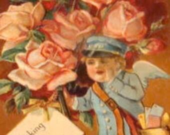 Nice Vintage Embossed Postcard