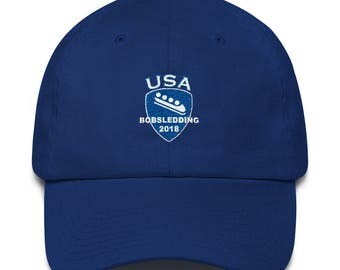 Bobsled, Bobsledding, 2018 Winter Sports Games Baseball Cap Made in The USA
