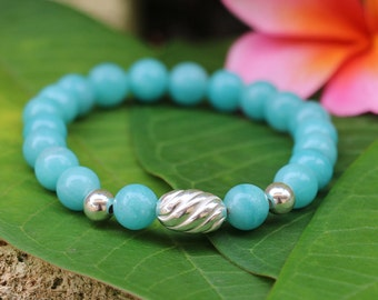 No. 33 Amazonite and Sterling Silver Beaded Bracelet