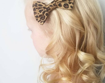 Leopard print Harley Style Bow