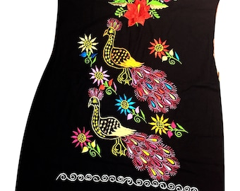Mexican embroidered dress 07