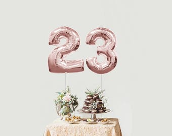JUMBO  34 inch Rose Gold Foil number Balloon,Number 1 balloon, 1 Balloon,Rose Gold number balloon,Large 1 balloon,one balloon,Rose Gold foil