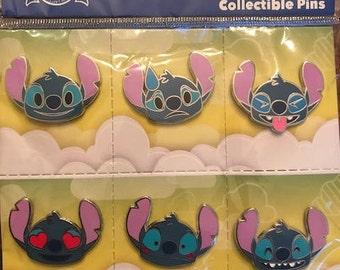 Disney Stitch Emoji 6 Pin set