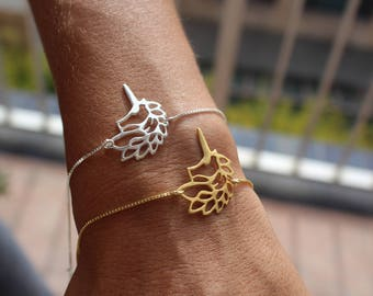 Unicorn Bracelet, Charm Bracelet, Horse Bracelet, Origami Bracelet, Minimalist Bracelet, Delicate Bracelet, Dainty Bracelet, Gift For Her