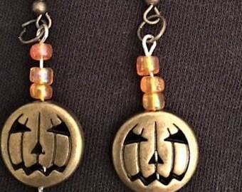 Handcrafted Pumpkin Earrings