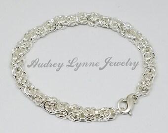 Byzantine Weave Bracelet - Sterling Silver
