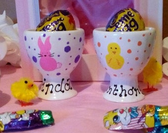 Personalised Easter Egg Cups, Egg Cup Personalised, Easter Gift, Gift For Kids, Egg Cup, Egg Cup Holder, Personalised Egg Cup Holder, Easter
