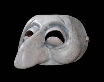 Mask of the italian Commedia dell'Arte of the XVI century. Zanni. 100% made in Italy.
