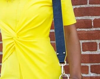 KLASPE Black Vegan Leather Strap Removable Handbag Strap Purse Strap Interchangeable Strap Replacement