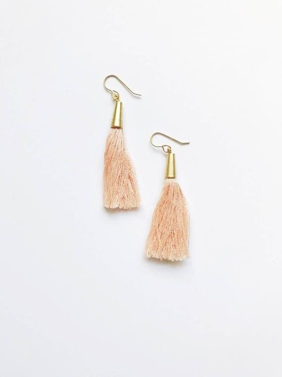Single Tassel Drop Earrings